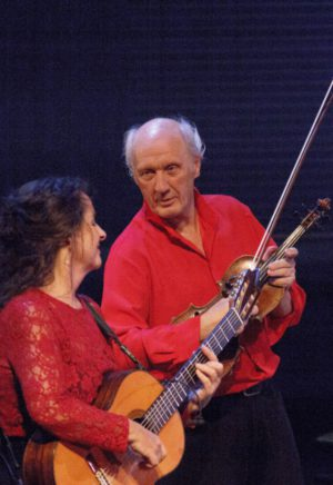 Herman van Veen en Edith Leerkes